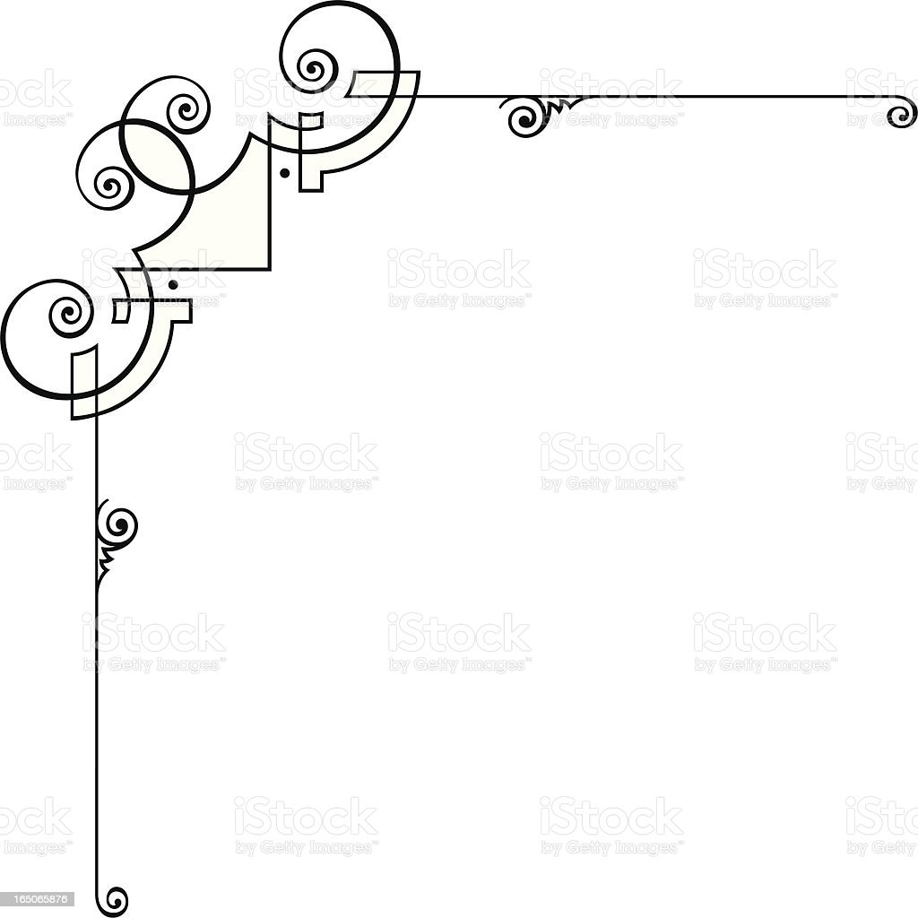Ornate Corner Design vector art illustration