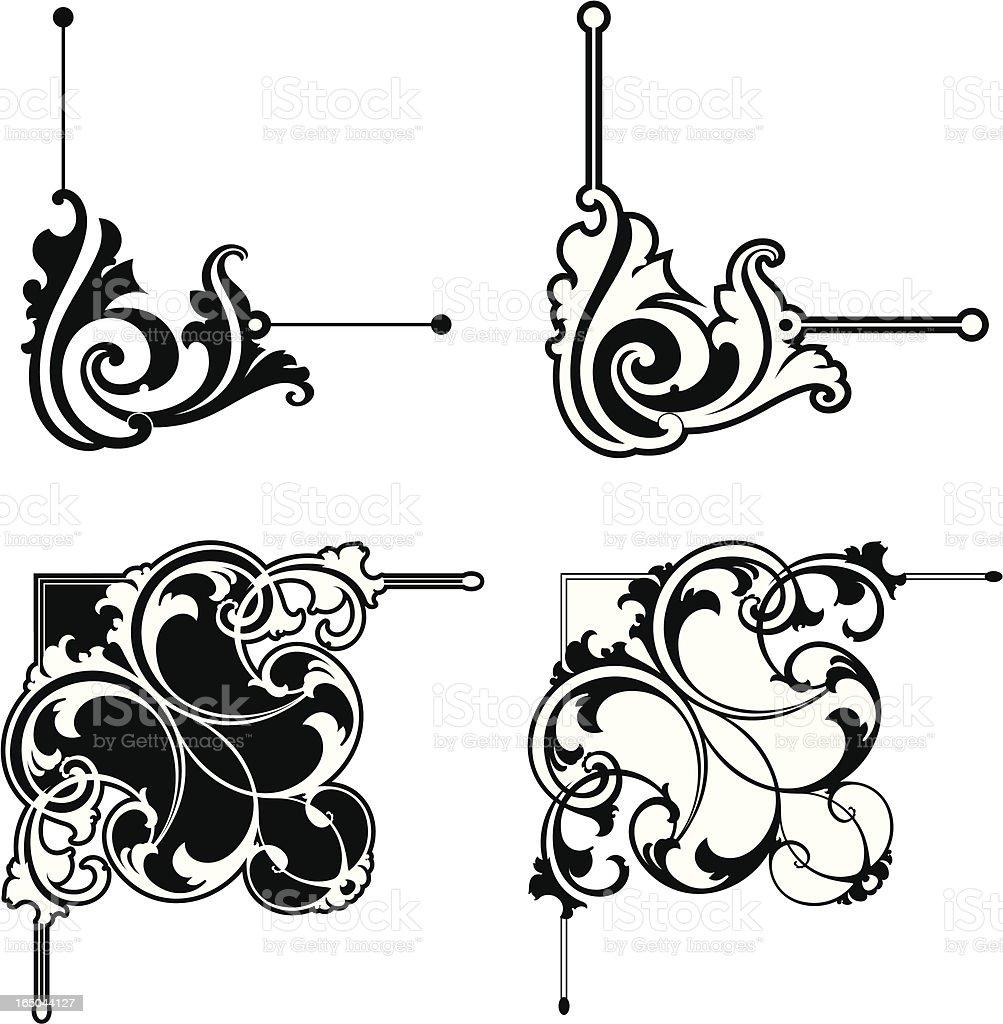 Ornate Corners royalty-free stock vector art