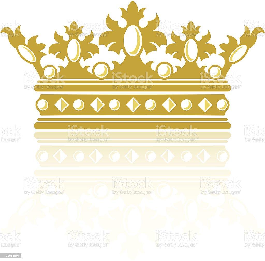 Ornate crown royalty-free stock vector art