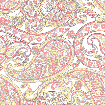 Ornate damask background. Paisley seamless pattern