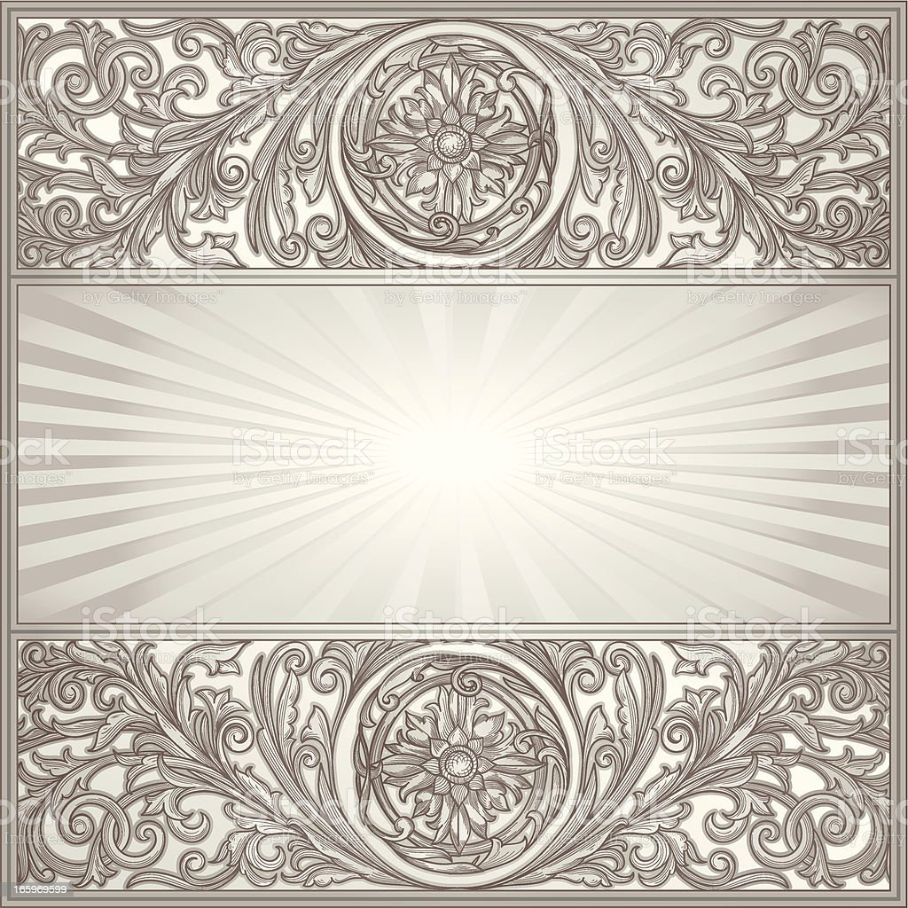 Ornate decorative blank royalty-free stock vector art