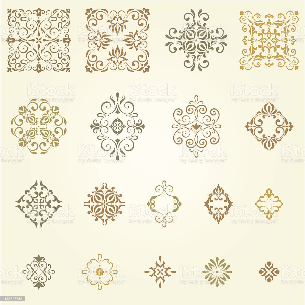 Ornate Design Collection royalty-free stock vector art