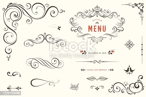 istock Ornate Design Elements_01 1220703388
