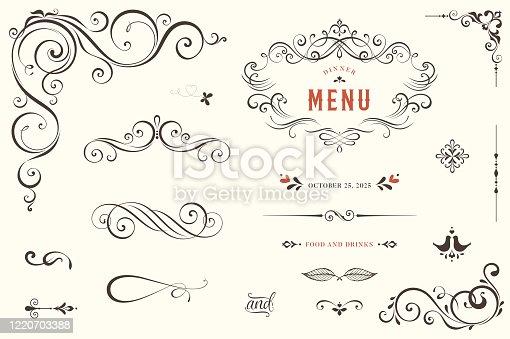 istock Ornate Design Elements_01 1220703388