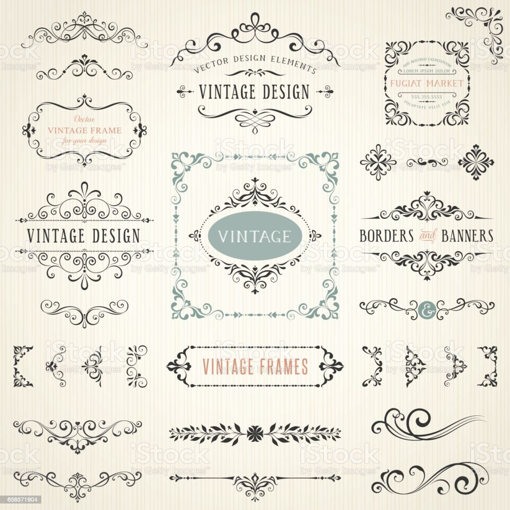 Ornate Design Elements_06 vector art illustration
