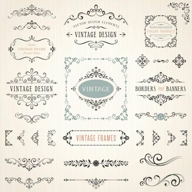 ilustraciones, imágenes clip art, dibujos animados e iconos de stock de elements_06 diseño recargado - plantillas de logotipos
