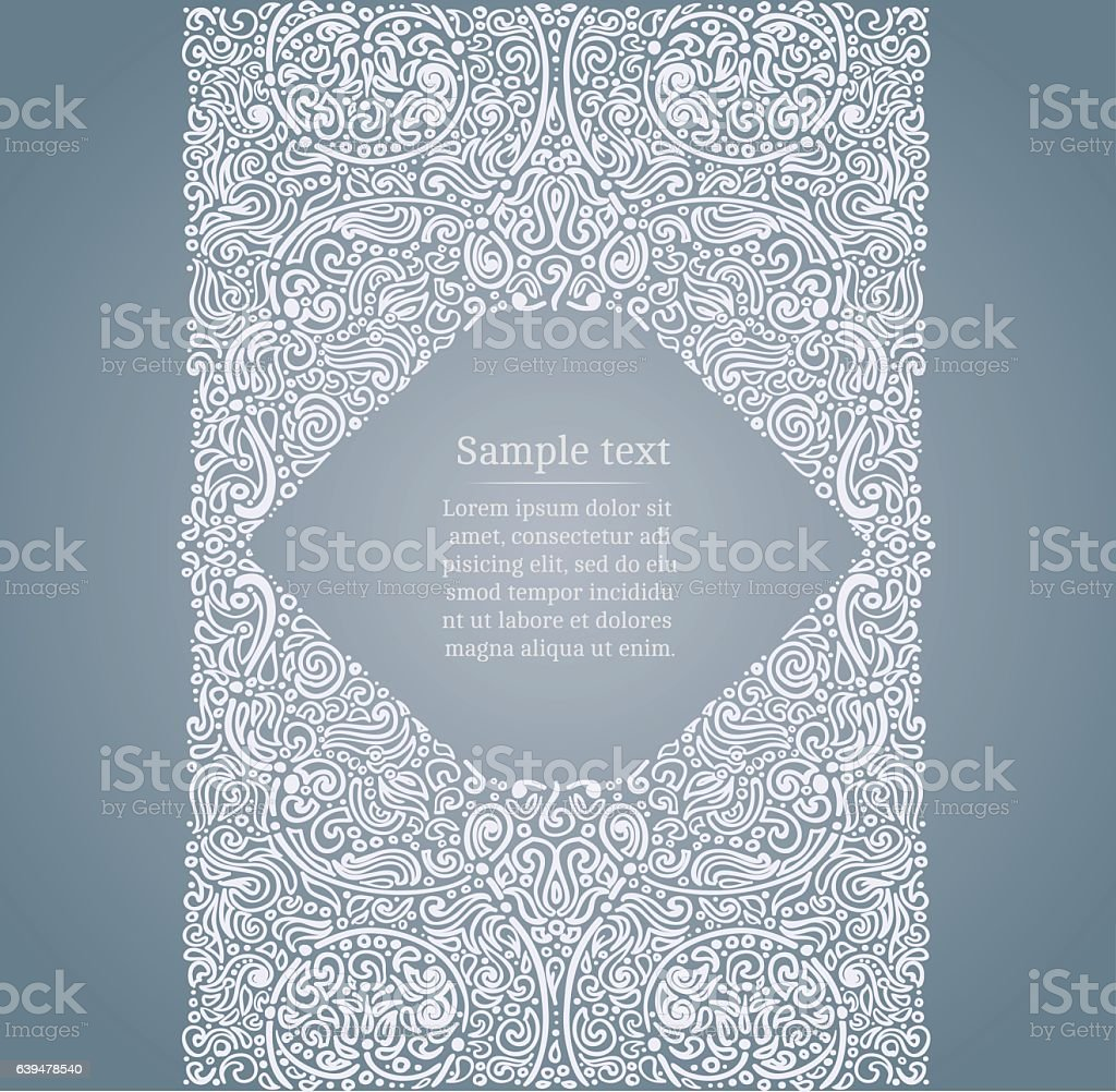 Ornate drawn frame