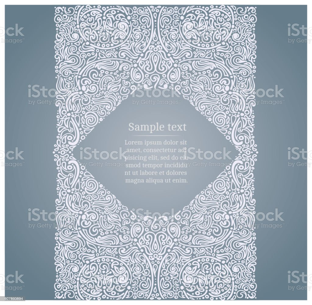 Ornate drawn frame