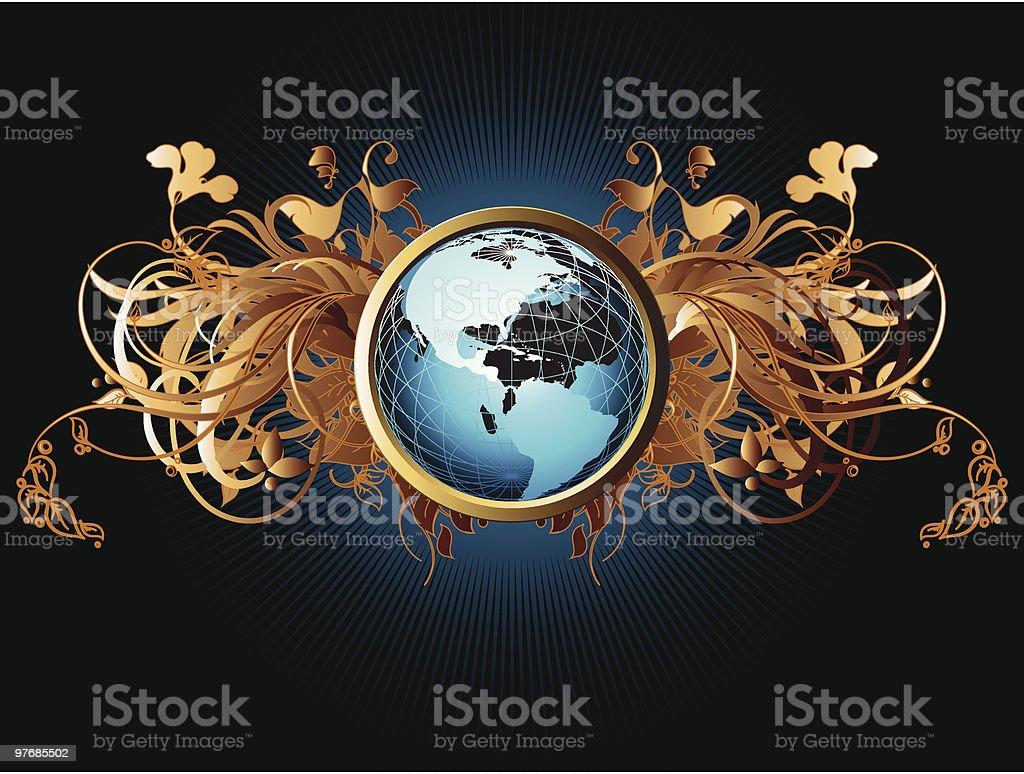 Ornate Earth background royalty-free stock vector art