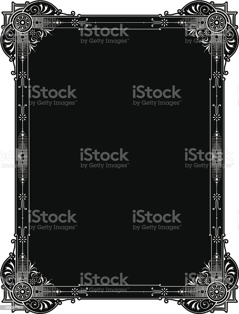 Ornate Elaborat Panel Design vector art illustration