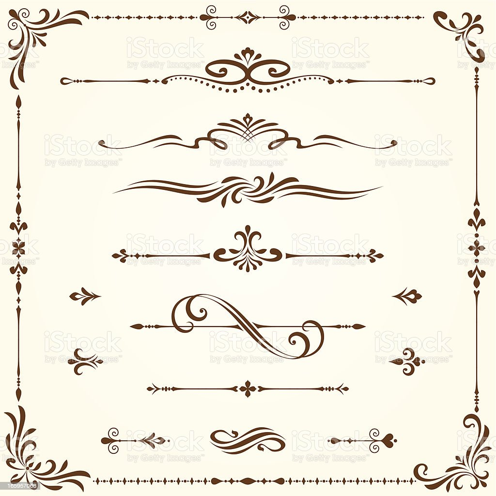 Ornate Elements Set royalty-free stock vector art