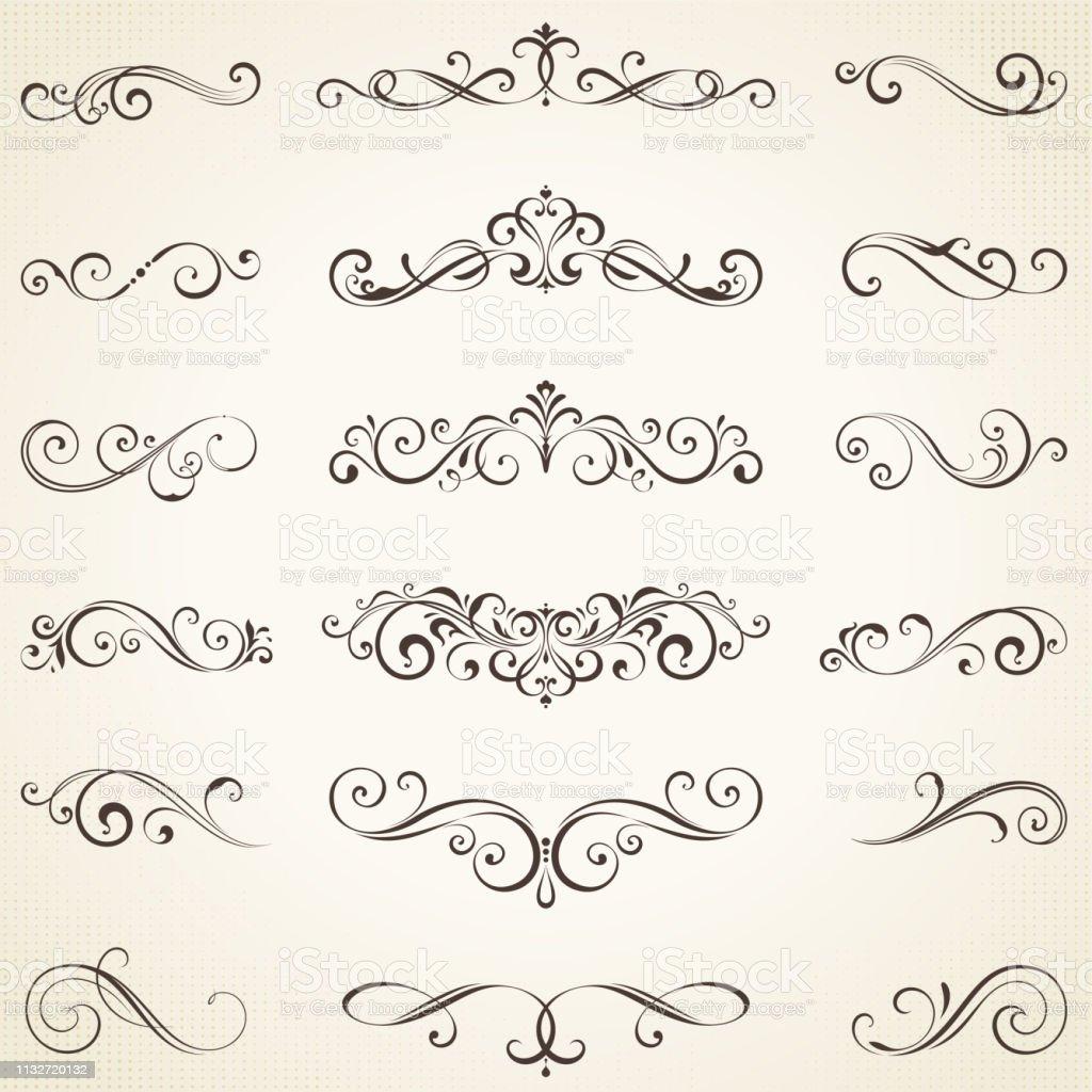 Ornate Elements Set_05 - Royalty-free Caligrafia arte vetorial