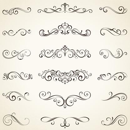 Ornate Elements Set05 — стоковая векторная графика и другие изображения на тему Баннер - знак