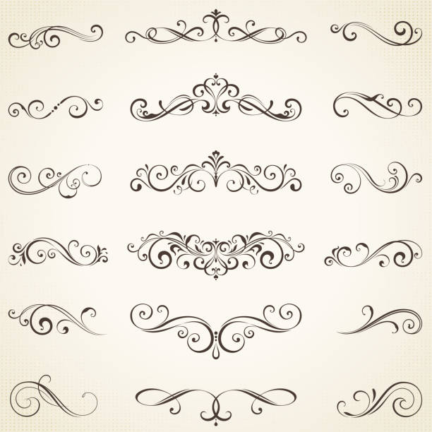 ornate elements set_05 - украшенный stock illustrations