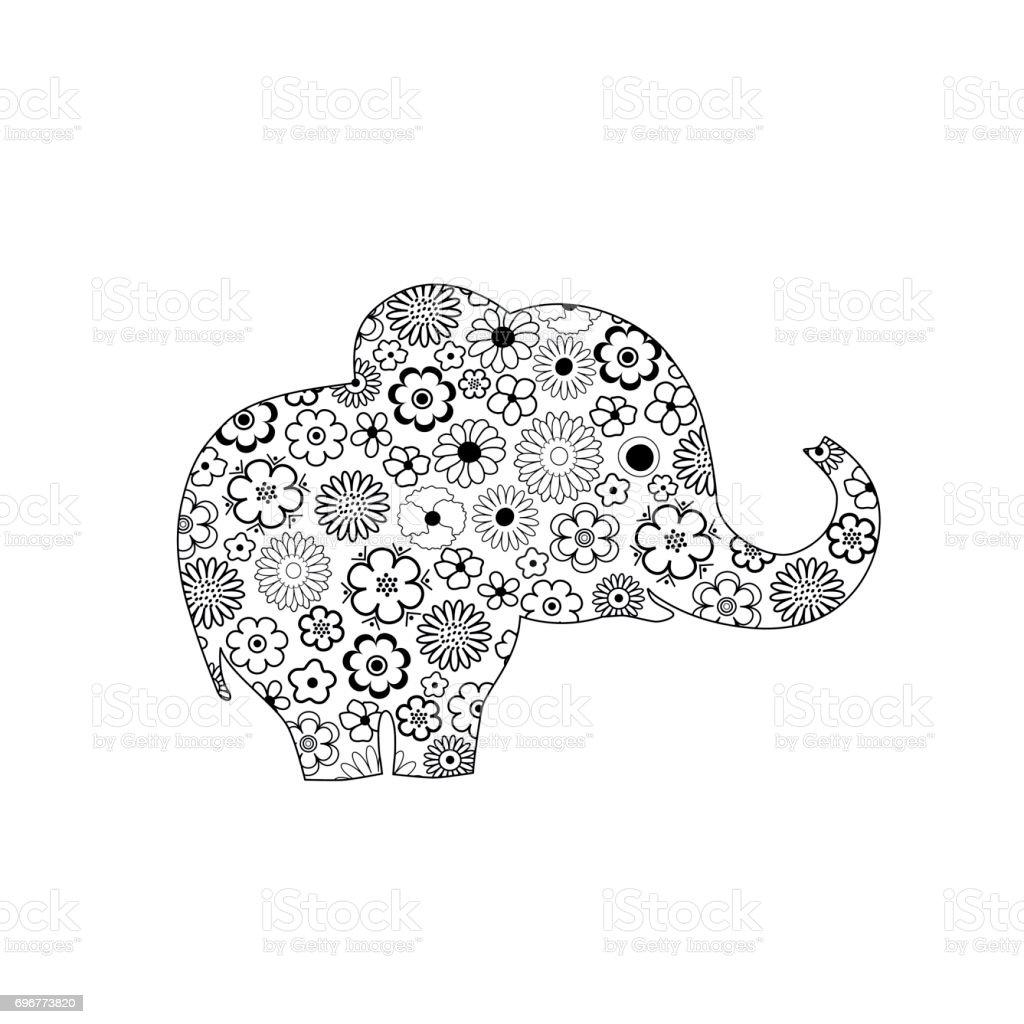 Ilustración de Diseño Elefante Ornamentado y más banco de imágenes ...