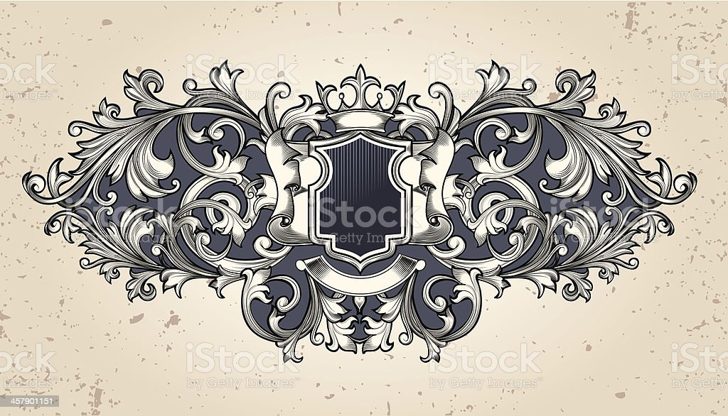 Ornate emblem royalty-free ornate emblem stock vector art & more images of abstract