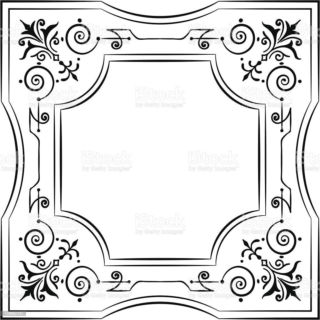 Ornamentado filigrana bastidor blanco y negro ilustración de ornamentado filigrana bastidor blanco y negro y más banco de imágenes de anticuado libre de derechos
