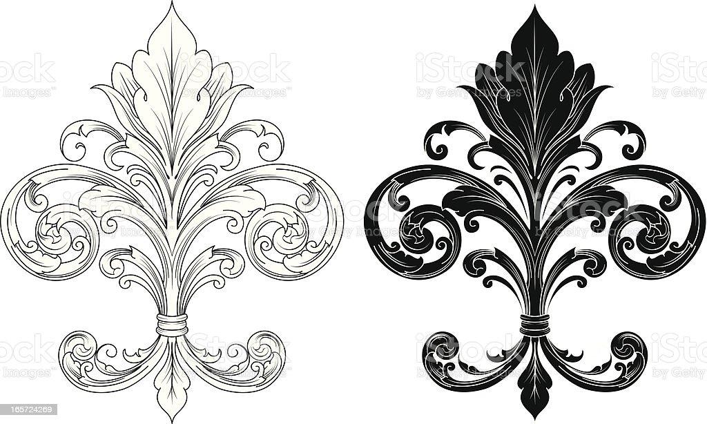 Ornate Fleur De Lis Stock Vector Art & More Images Of