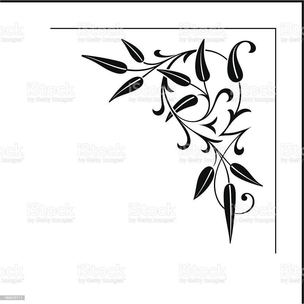 Ornate Floral Corner Design Stock Vector Art & More Images of