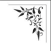 A delightful floral corner design. for all sorts of uses! very sharp vectors.