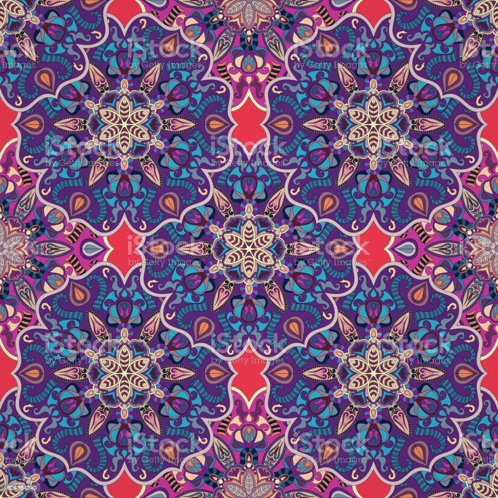Ilustracion De Pinturas Textura Sin Fisuras Con Flores Interminables - Pinturas-de-mandalas