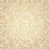 Ornate floral seamless texture. Golden endless pattern. Persian style background. Seamless pattern can be used for wallpaper, pattern fills, web page background, surface textures.
