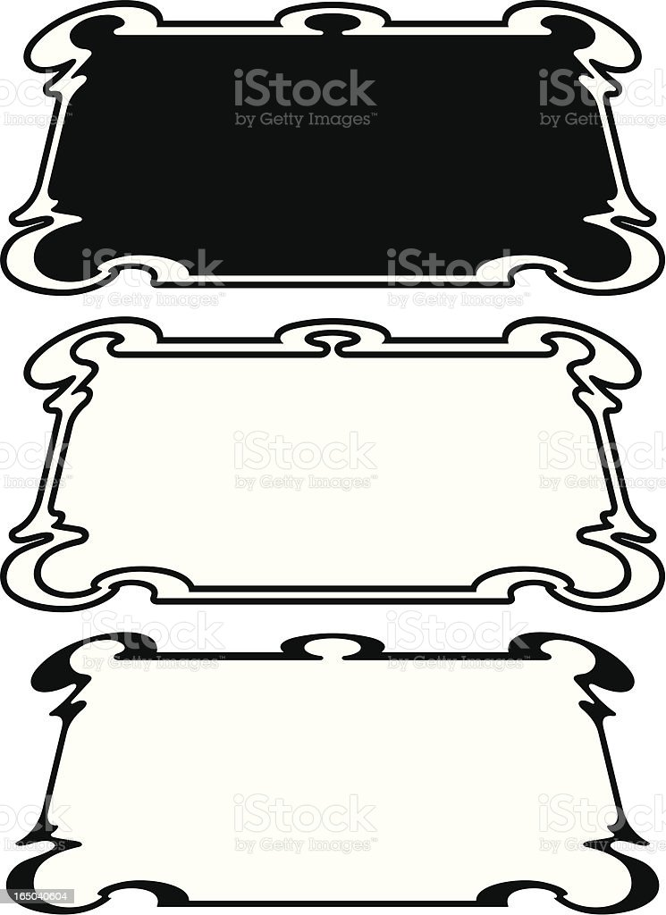 Ornate Flourished Panels royalty-free stock vector art