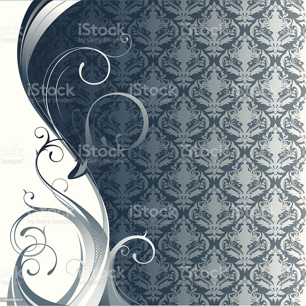 vector illustration of a baroque style background with flourishe...