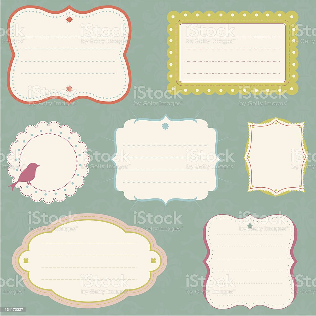 Ornate Frame Collection vector art illustration