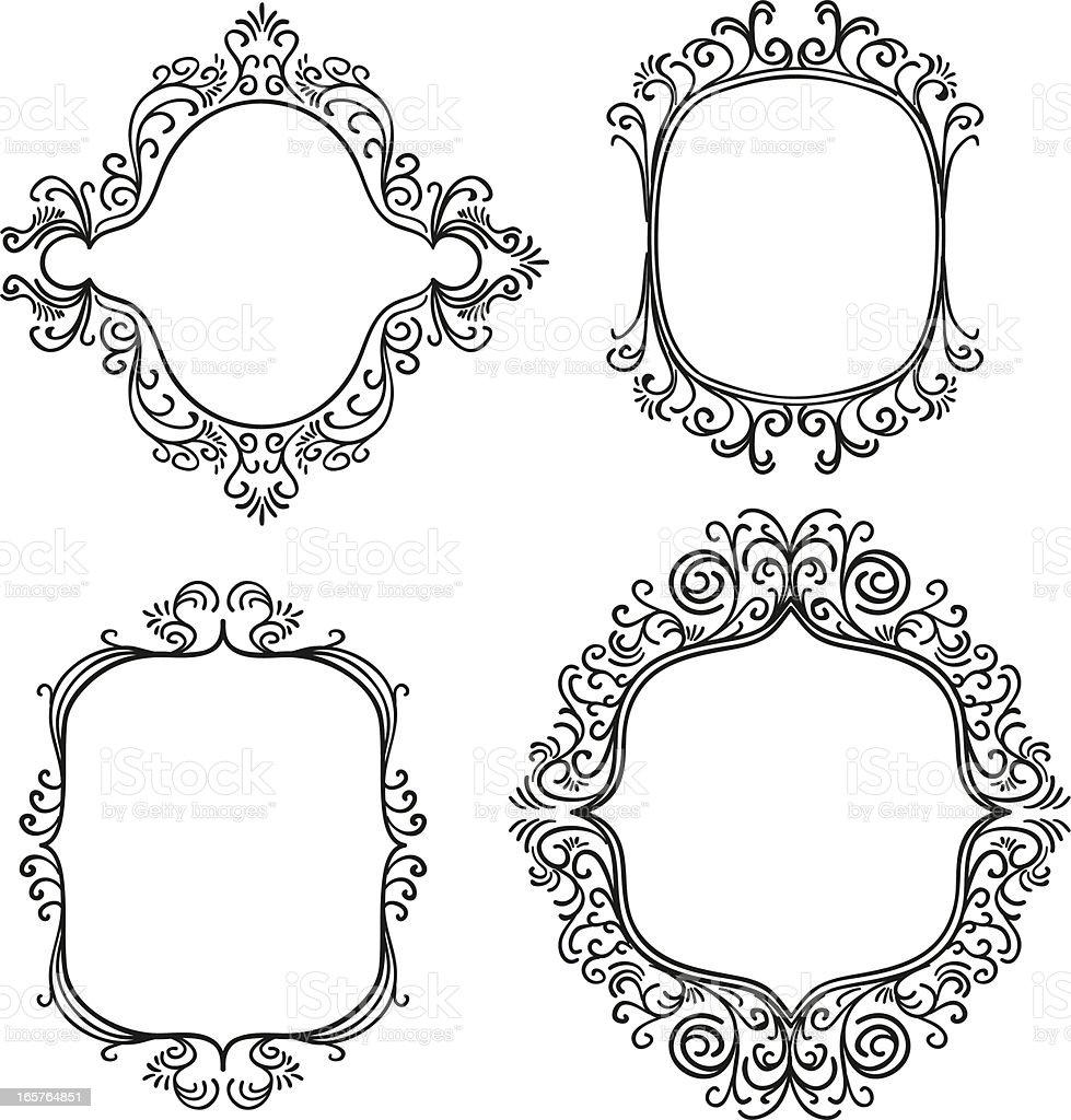 Verzierten Rahmen In Schwarz Und Weiß Stock Vektor Art und mehr ...