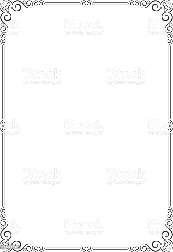 Ornate Frame Template For Card Certificate Diploma Stock Vector Art ...