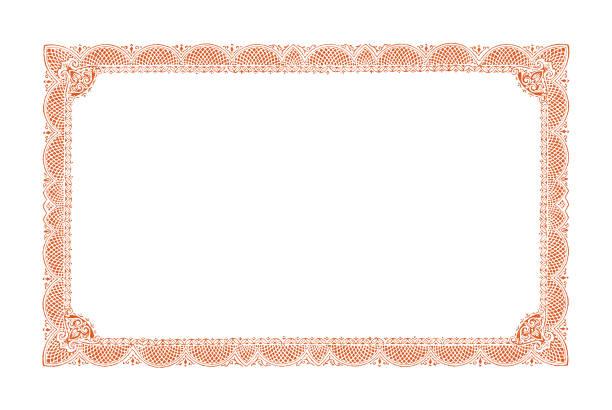 stockillustraties, clipart, cartoons en iconen met sierlijke frame - certificaat