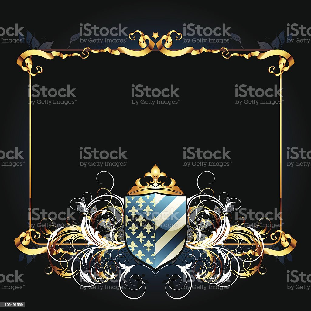 ornate frame royalty-free stock vector art