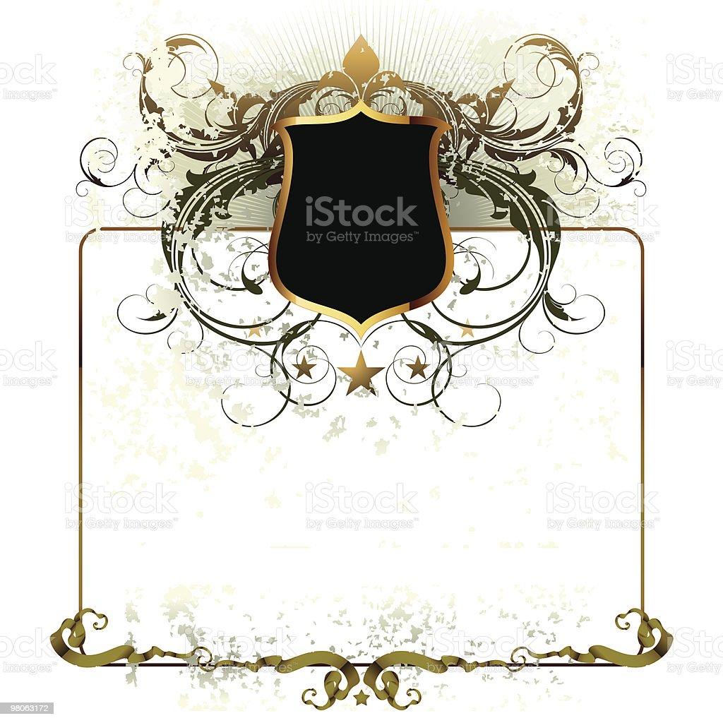 Ornato frame ornato frame - immagini vettoriali stock e altre immagini di blasone royalty-free