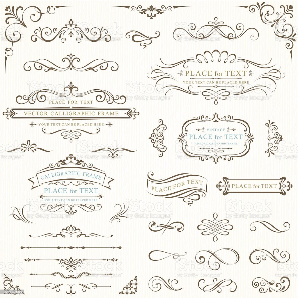 ornate frames for text stock vector art amp more images of