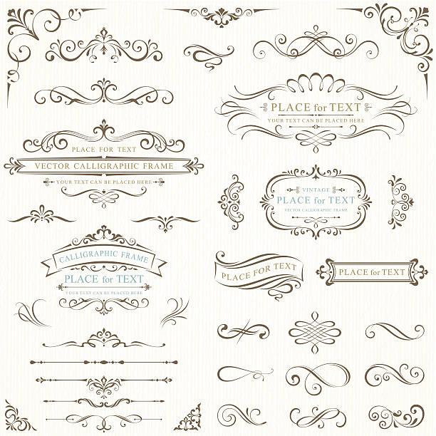 ornate frames for text - 紙捲軸 幅插畫檔、美工圖案、卡通及圖標