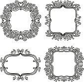 Various Ornate frames in black