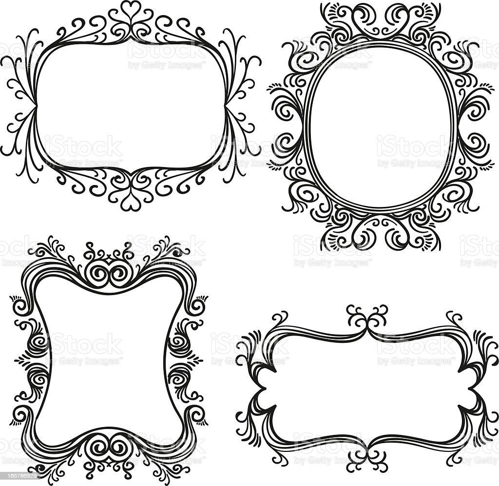 Verzierten Rahmen In Schwarz Stock Vektor Art und mehr Bilder von ...