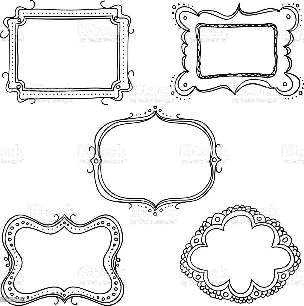 Ornate Frames In Sketch Style Stock Vector Art 456028355