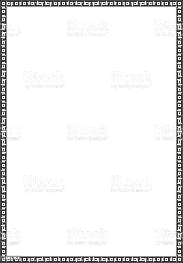 ornate geometric frame for diploma certificate advertisement a4 page