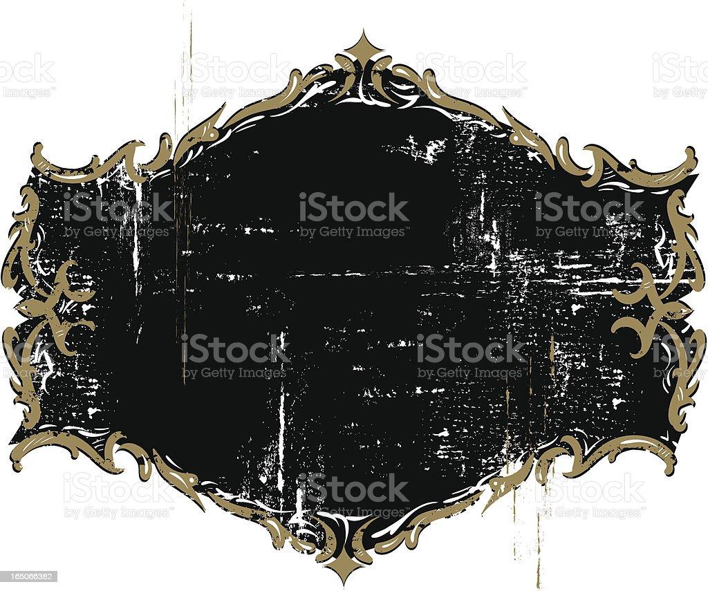 Ornate gilded weathered emblem royalty-free ornate gilded weathered emblem stock vector art & more images of broken