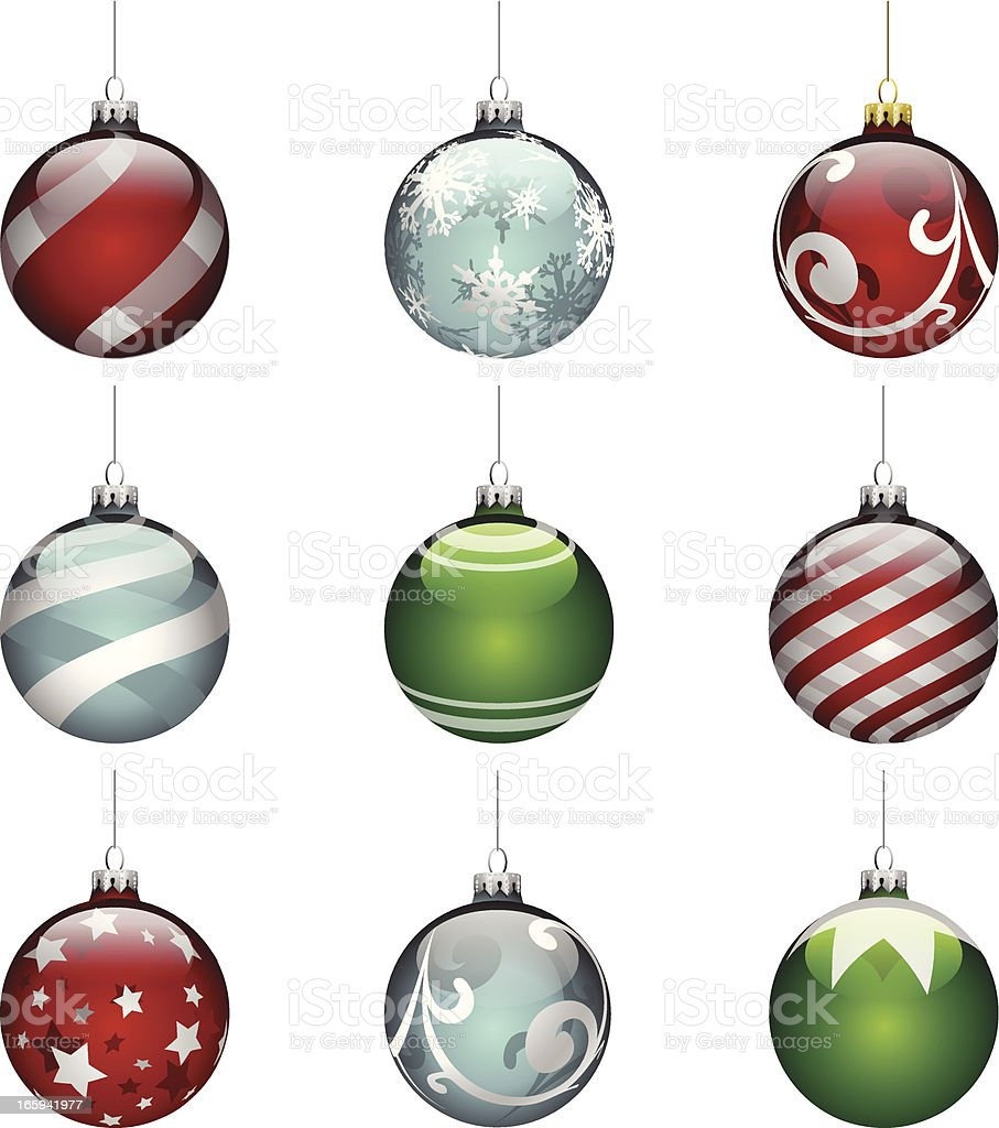 Ornate Glass Ornaments royalty-free stock vector art