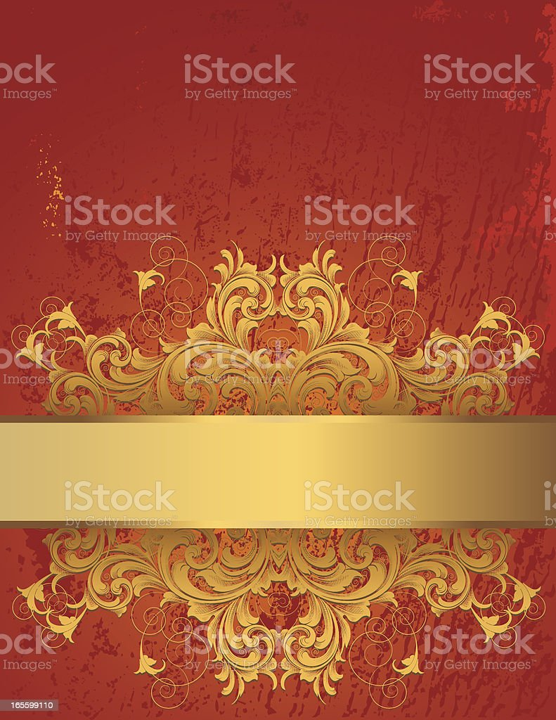 Ornate Gold Banner Page royalty-free stock vector art