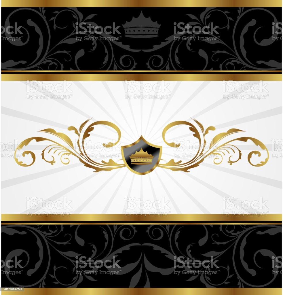 Ilustración de Marco Adornado De Oro Decorativa y más banco de ...