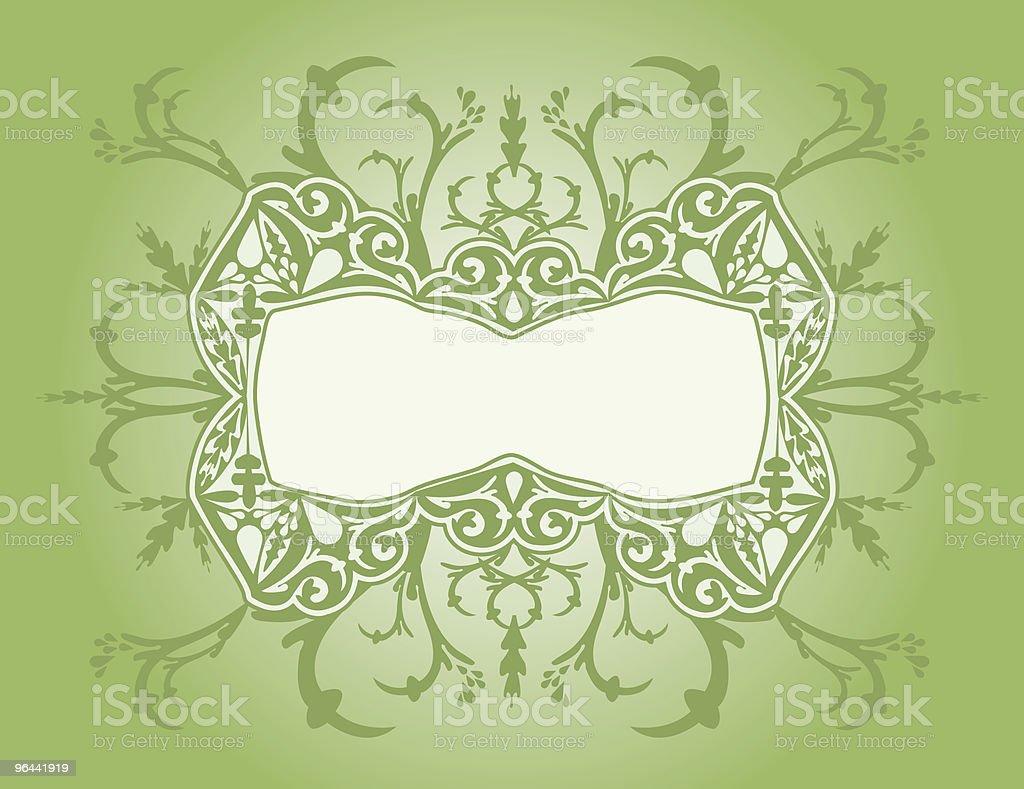 Ornado de verde quadro - Vetor de Antiguidade royalty-free