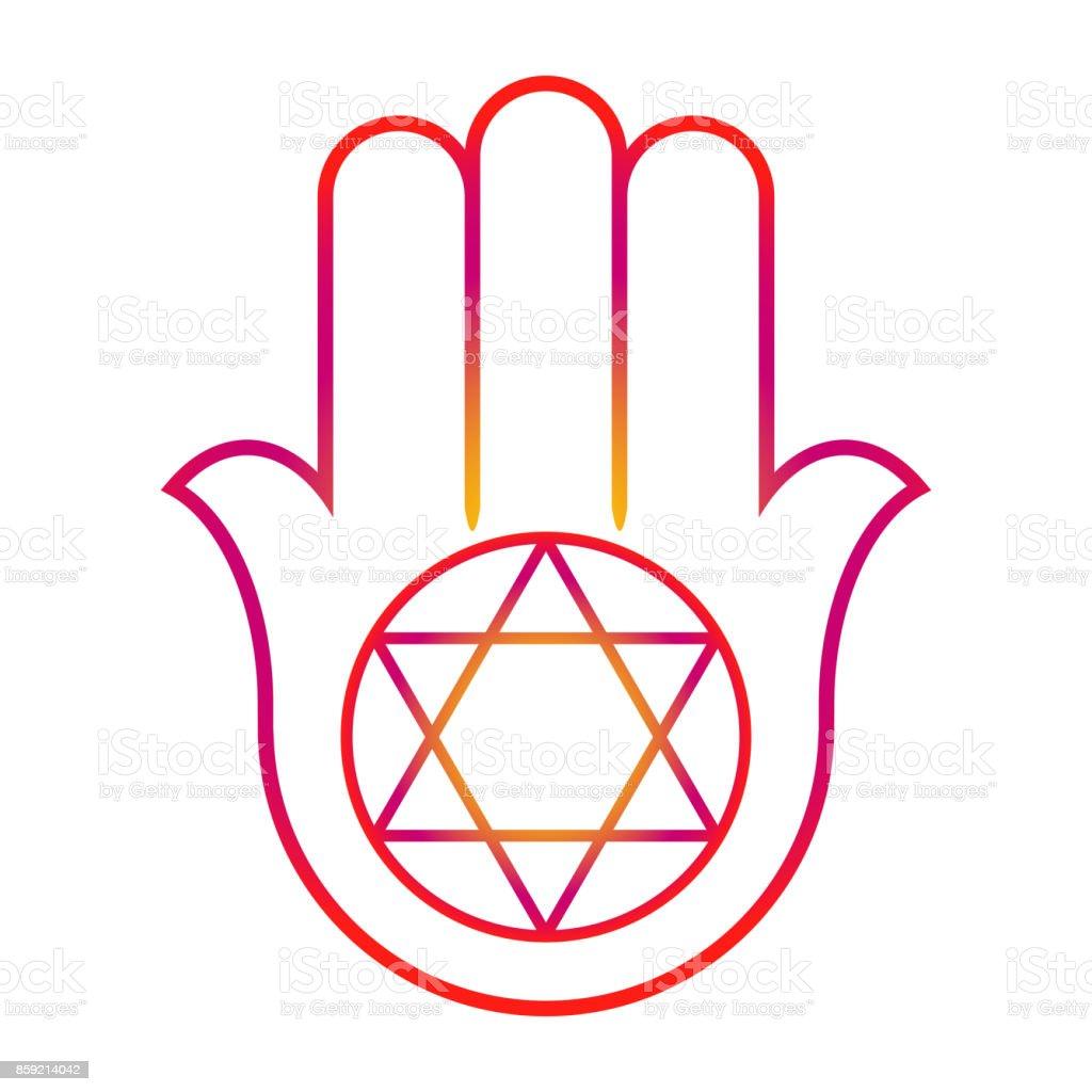 Ornate hamsa with the seal of solomon arabic and jewish amulet ornate hamsa with the seal of solomon arabic and jewish amulet vector illustration biocorpaavc Choice Image