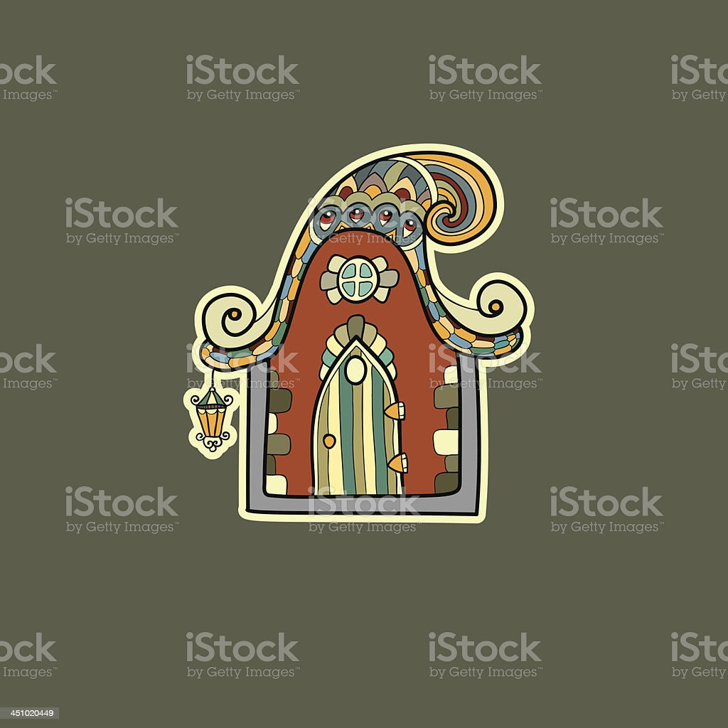 Ornate house vector illustration royalty-free ornate house vector illustration stock vector art & more images of abstract