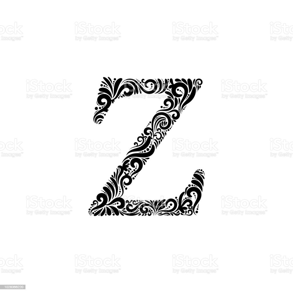 Ornate Letter Z Stock Vector Art More Images Of Alphabet