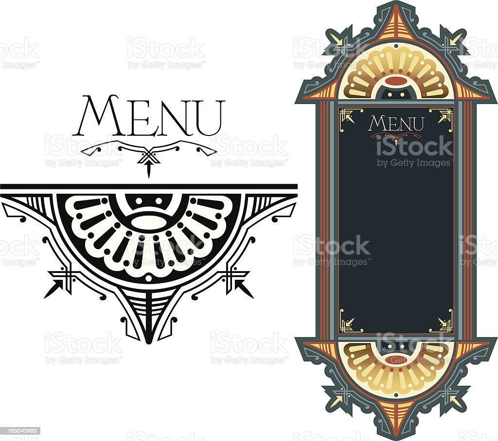 Ornate Menu design vector art illustration