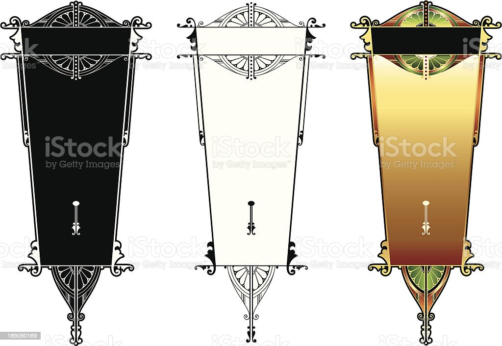 Ornate Menu Panels vector art illustration